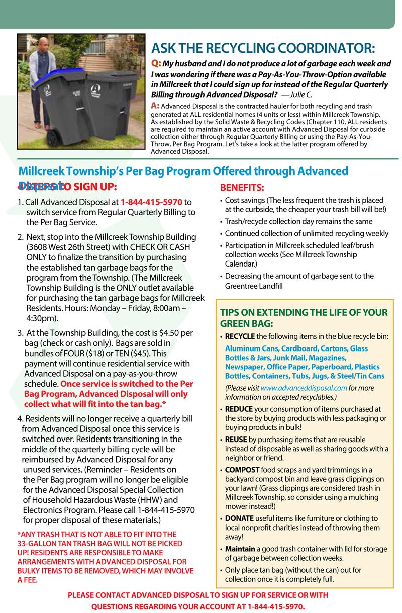 Millcreek Recycling Brochure for New Residents - Page 5